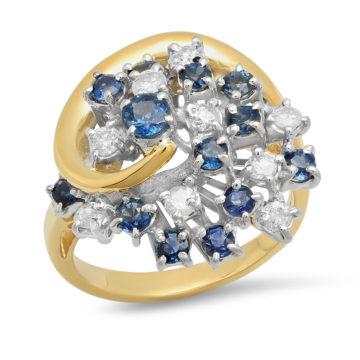 18K Y &W Gold Ring